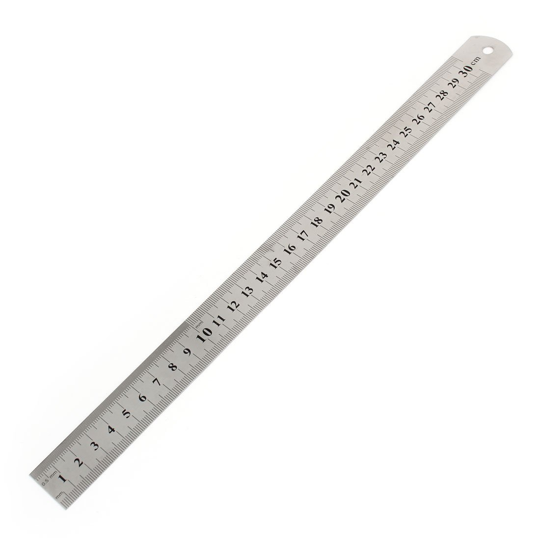 Student 30 cm 30, 5 cm Double Seiten Metrisches gerade Lineal Silber Ton Sourcingmap a14092600ux0653