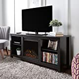 60in tv stand with fireplace - New 58 Inch TV Stand with Fireplace in Black Finish