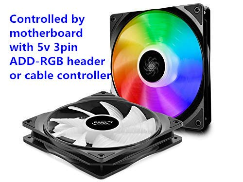 Ventilador DEEP COOL CF140 2IN1, Addressable RGB, Motherboar