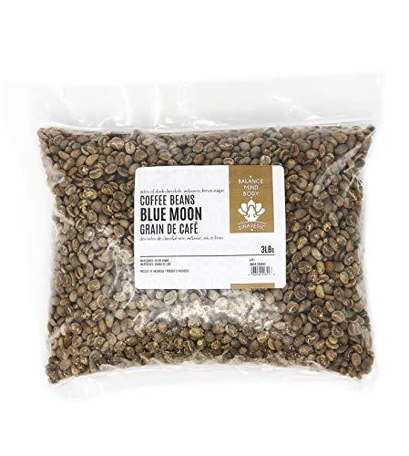 Bali Blue Moon Organic Unroasted Arabica Green Coffee Beans, 3Lbs Dinavedic | Premium Quality, Single Source From - Beans Green Bulk Organic
