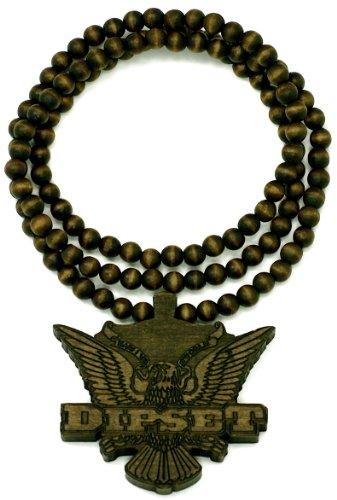 GWOOD Diplomats Dipset Cam'ron & Jim Jones Brown Good Wood 36 Inch Wood Replica Pendant Necklace