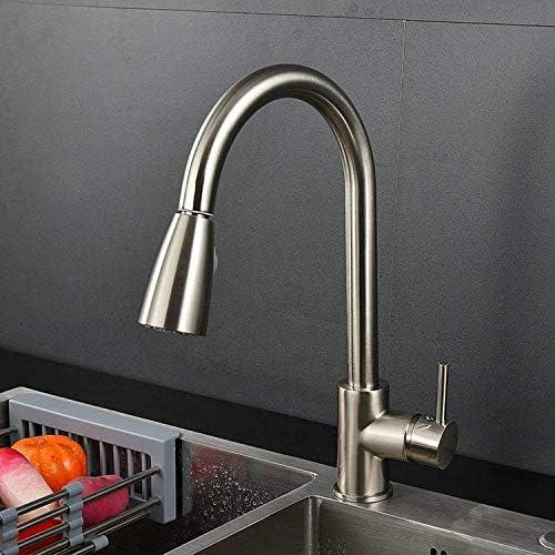 DGF-FF バスルームのシンクは、スロット付き浴室の洗面台のシンクホットコールドタップミキサー流域の真鍮シンクミキサータップ非震とう全銅ドローイングの蛇口ホットとコールド混合水プル蛇口キッチン蛇口タップ
