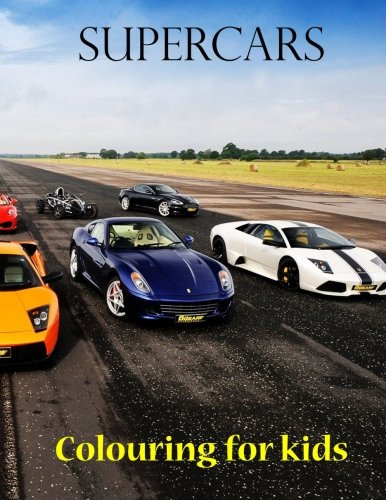 Colouring for kids Supercars: Great book for young kids. This colouring book consist of 45 pages of Formula 1, rally and supercars from around the ... about the vehicles. Children aged 8+