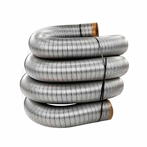 "6"" x 15' HomeSaver UltraPro Stainless Steel Chimney Liner"