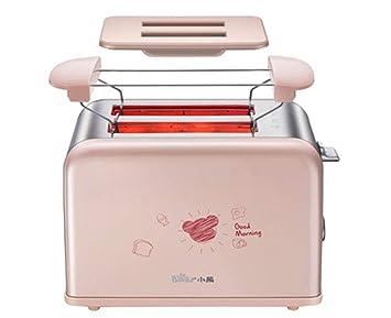 PsgWXL Tostadora Casera Automática 2 Rebanada Sándwich Máquina Desayuno Tostada Doble Calefacción Multifunción: Amazon.es
