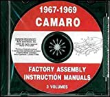 1967 1968 1969 CHEVY CAMARO FACTORY ASSEMBLY INSTRUCTION MANUAL CD. INCLUDES: RS, SS and Z/28. CHEVROLET 67 68 69