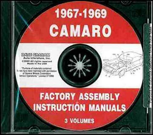 - 1967 1968 1969 CHEVY CAMARO FACTORY ASSEMBLY INSTRUCTION MANUAL CD. INCLUDES: RS, SS and Z/28. CHEVROLET 67 68 69