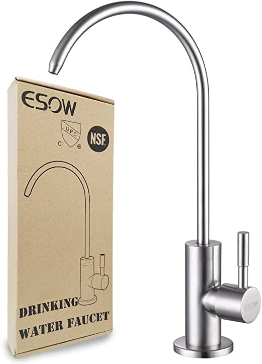 ESOW Kitchen Water Filter Faucet, 100% Lead-Free Drinking ...