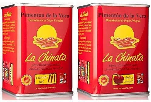 Pimentón de La Vera Ahumado Dulce y Picante pack La Chinata latas 160g