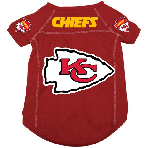 bf8bfcaaeef Amazon.com   Kansas City Chiefs Pet Dog Football Jersey Alternate LARGE   Pet  Supplies