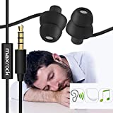 MAXROCK (TM) Unique Total Soft Silicon Super Comfortable Sleeping Headphones with Mic