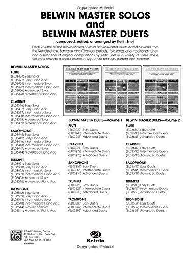 Belwin Master Duets: Clarinet Intermediate Vol  1