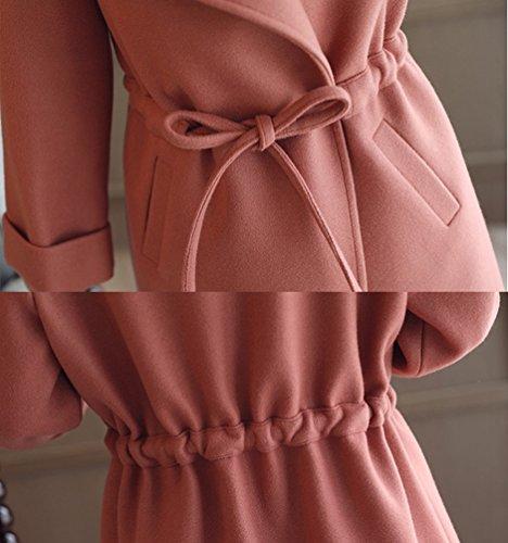 2 De Abrigo Chaqueta Simple Imagen La Mujer Casual Invierno Parka Diseño Como Lana YAANCUN x0TOgwqHx