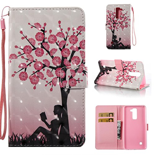 (Lg Stylo 2 Case,PU Leather Shock Proof Wallet Case Lightweight Kickstand Flip Folio Book Case Magnetic Card Holder with Strap Birthday Xmas Halloween for Lg Stylo 2/Lg Stylus)