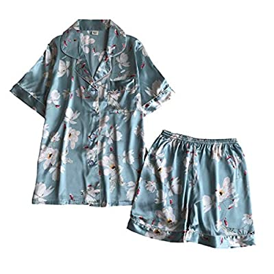 ANJUNIE Pajamas Sets Loungewear, Womens Sling Sleepwear Shorts Flower Print Nightwear Sets