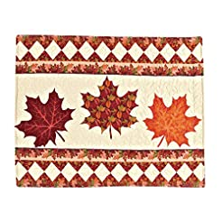 Autumn-Inspired Reversible Fall Leaves D...