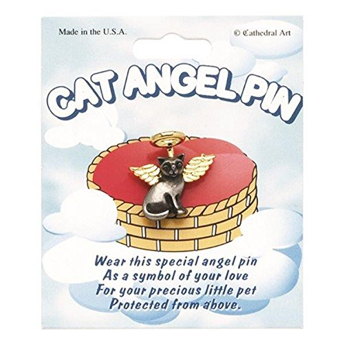 Cathedral Art TPA101 Cat Angel Pin, Comes on Card