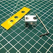 Mustwell 1pcs V6 j-Head Heater Block with Ceramic Cotton Insulation Aluminum Heated Block for V6 hotend