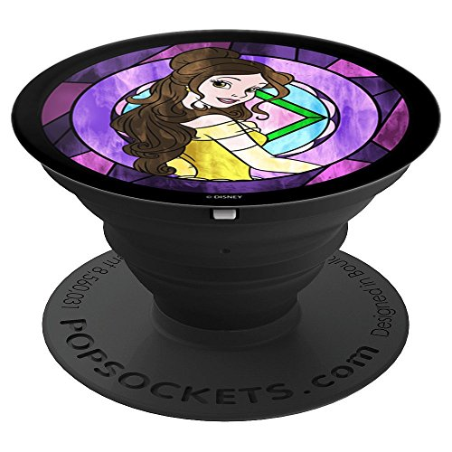 - Disney Beauty And The Beast Belle Pose Neon Stained Glass - PopSockets Grip and Stand for Phones and Tablets