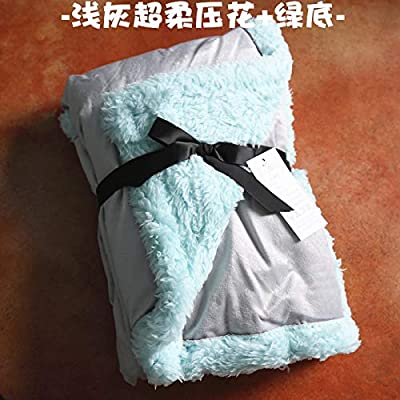 FOREVER-YOU Double Thick Small Blanket Women s Singles Have Afternoon nap  Blanket Coral Fleece Blanket 70100 9a23fd4ad8