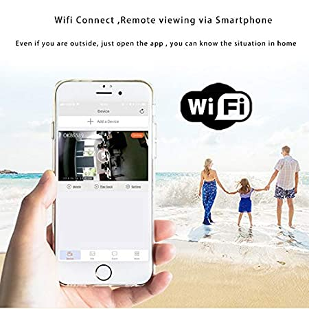 Amazon.com : Mini Camera WiFi IP hd Night Vision 720p Camcorder Android Outdoor dvr dv 140 Degree Wide Angle Motion Detection Portable cam : Camera & Photo