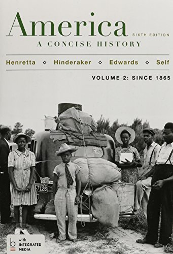 America: A Concise History, Volume 2, with LaunchPad (Six Month Access)