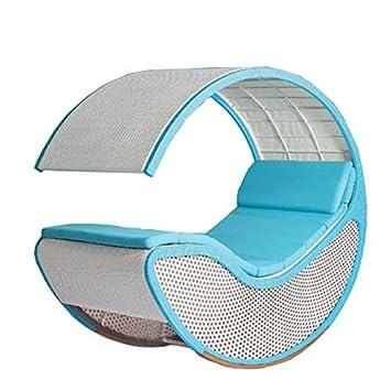 Imitation Bambou Rotin Osier Rocking Chair Chaise à Bascule