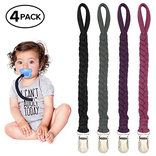 Braided Pacifier Clips for