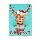 Christmas Cards Diamond Painting 5D DIY Round Bead Drill Christmas Greeting Card for Classmates, Parents, Family, Friends (Style 7)