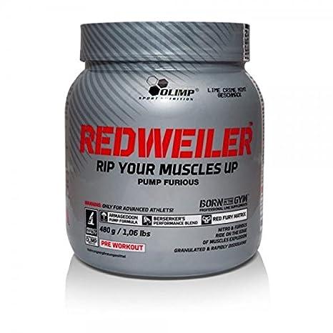 Olimp Sport Nutrition Redweiler Red Punch Pre-Entrenamiento - 480 gr: Amazon.es: Salud y cuidado personal