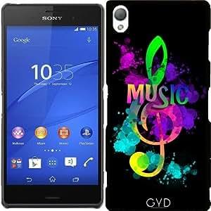 Funda para Sony Xperia Z3 - La Música Del Arco Iris Clave De Sol by Blingiton