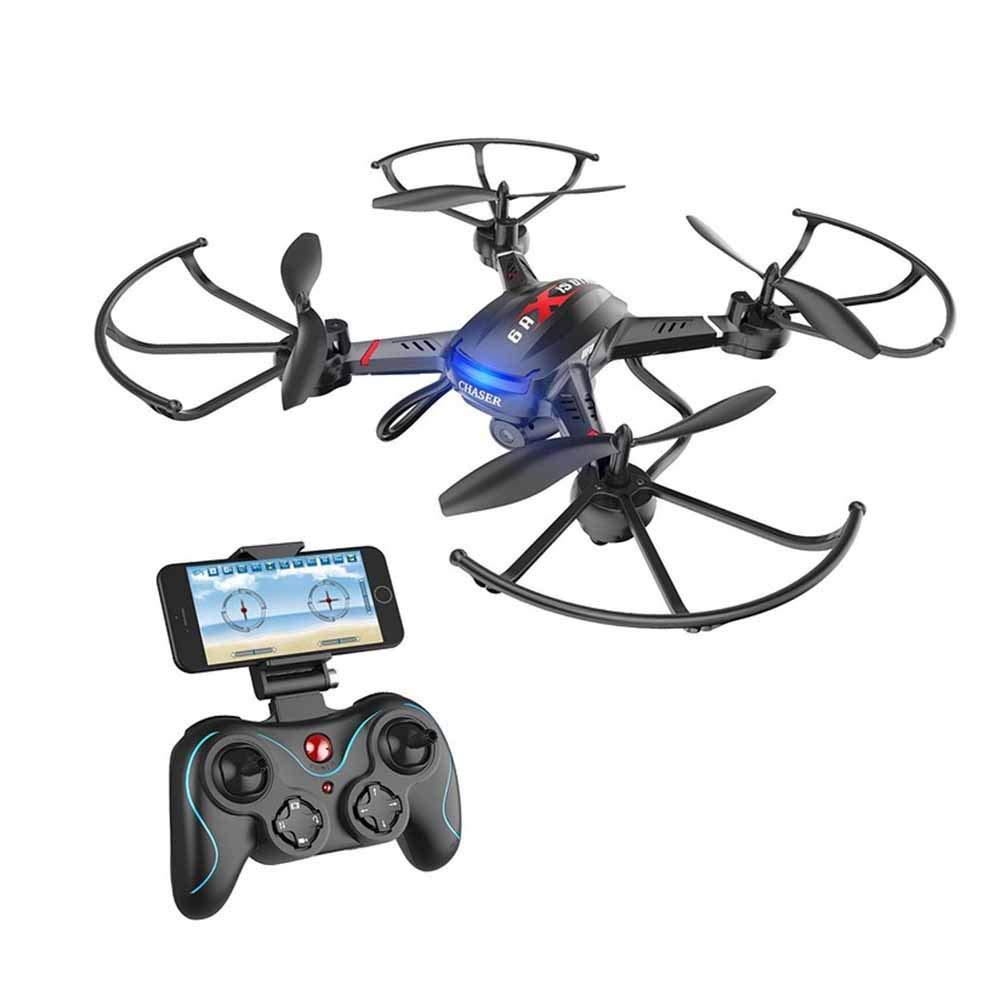 GPS FPV RC Drone Camera Vídeo En Vivo GPS Return Home Quadcopter Gran Angular Ajustable 720P HD WiFi Cámara - Control De Altitud, Batería Inteligente Rango De Control Largo