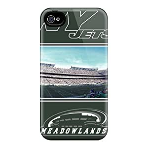 Shock-dirt Proof New York Jets Case Cover For Iphone 4/4s