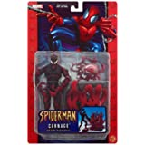 Spider-man Classics CARNAGE poseable action figure with Spider-Trapping Base