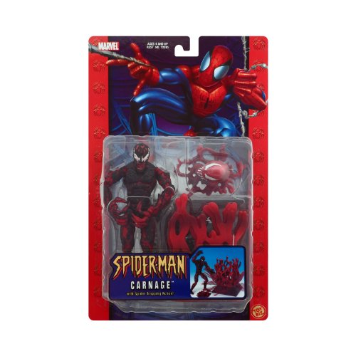 (Spider-man Classics CARNAGE poseable action figure with Spider-Trapping Base)