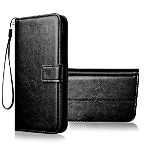 Hifad Case Flip Cover for Realme 8 Pro Leather Case | Foldable Stand | Inner TPU | Wallet Card Slots – Executive Black