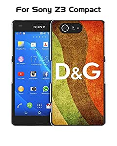 Cool Funda Case for Sony Xperia Z3 Compact Brand Logo D&G Drop Proof Rugged Anti Slip Durable High Impact Extra Slim (Only For Sony Z3 Compact)