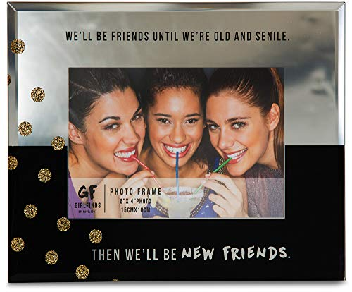 Pavilion Gift Company 75103 New Friends Mirrored Photo Frame, 7 x 9 (Friends Picture)