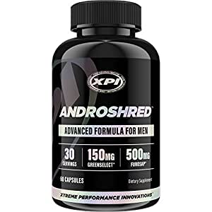 AndroShred - Hardcore Fat Burner - Build Lean Muscle - Increase Strength, Power, Lean Muscle, Energy, & Fat Loss - Diet Pill for Men (1 Bottle)