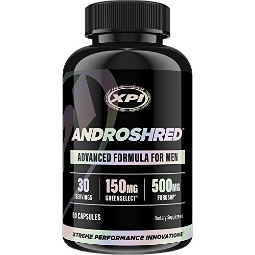 AndroShred - Hardcore Fat Burner - Build Lean Muscle - Increase Strength, Power, Lean Muscle, Energy, & Fat Loss - Diet Pill for Men (1 (Muscle Man Weight)