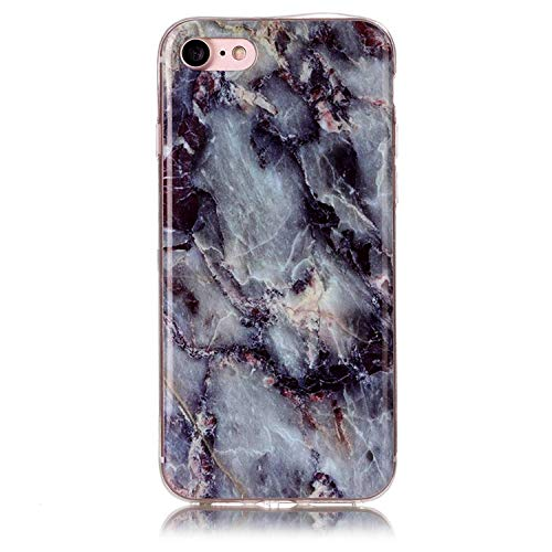for iPod Touch 5 6 Marble Soft TPU IMD Silicone Cover Case for iPhone Xs Max XR X 4 4S 5 5C 5S SE 6 6S 7 8 Plus Fundas Coque B02,Gray,for iPod Touch 5 6