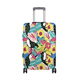 Summer Hello Welcome Birds Tropical Flowers Suitcase Luggage Cover Protector for Travel Kids Men Women