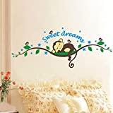 TOOPOOT(TM) Removable Vinyl Decal Art Mural Home Decor Wall Sticker (Sweet Dreams Monkey)