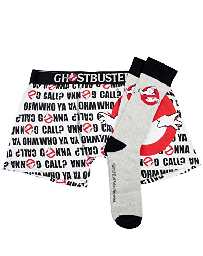 Official Ghostbusters Boxer Shorts And Socks Set (M)