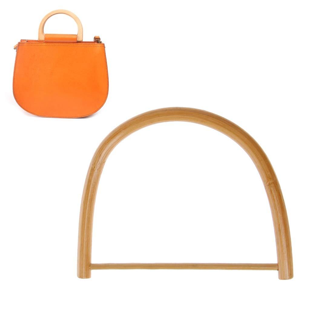 Cuigu Taschengriff, D-Form Bambus Taschengriff fü r Handtasche, DIY handgefertigte Handtaschen-Zubehö r, Taschenaufhä nger fü r Tote-Geldbö rse, 15cm