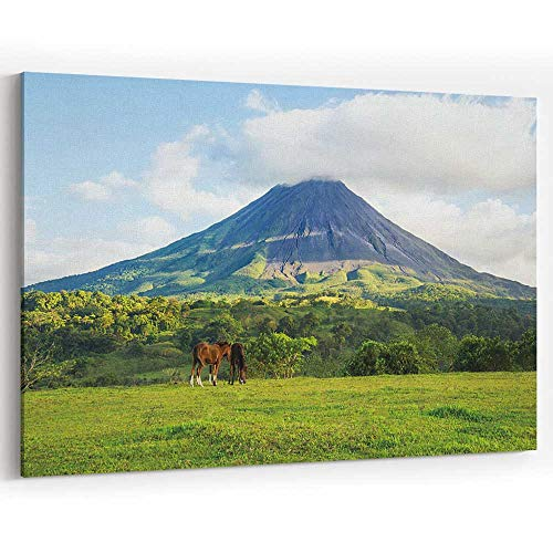 (Arenal Volcano Canvas Art Wall Dector,Costa Rica Painting Wall Art Picture Print on Canvas,36