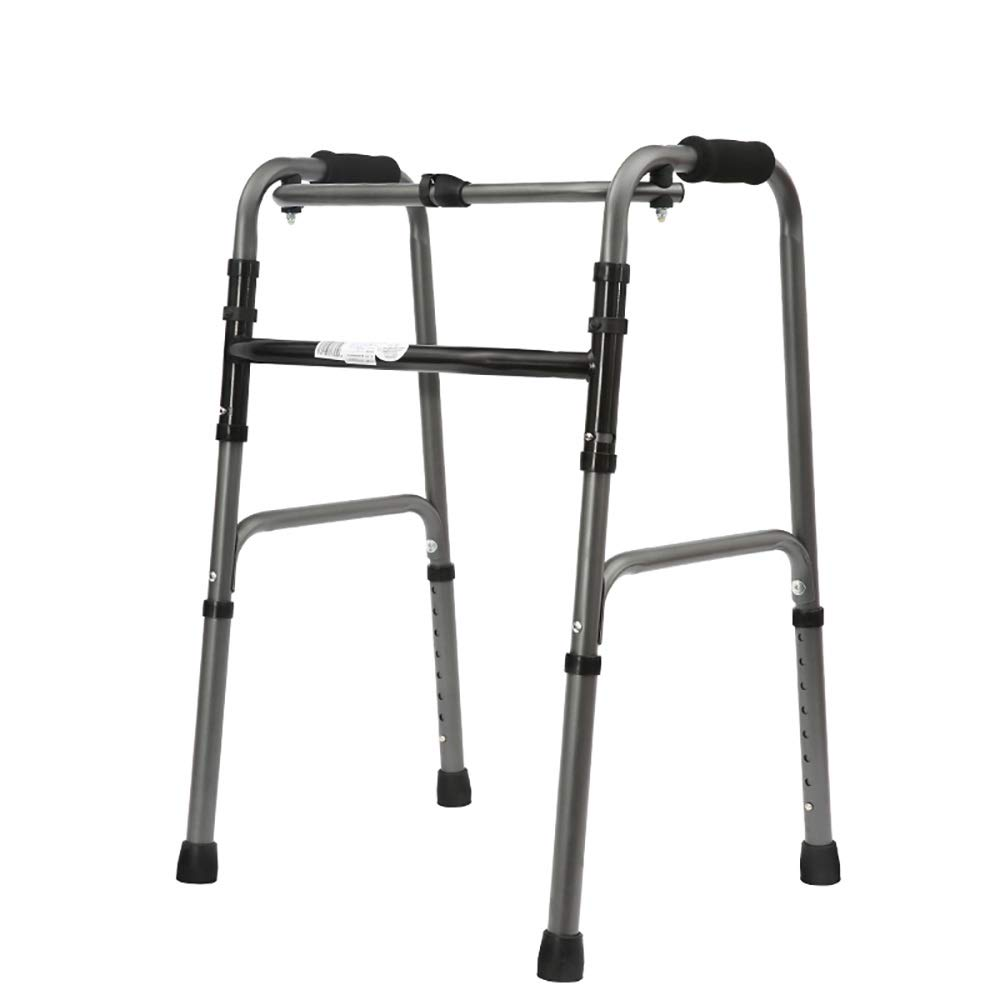 Adjustable Height one-Button Folding, with Wheels, Bath Board, Aluminum Alloy Walker. (Size : A)
