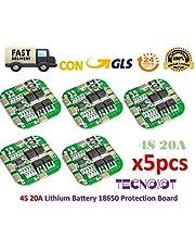 TECNOIOT 5pcs 4S 20A 14.8V / 16.8V Peak Li-Ion BMS PCM Battery Protection Board