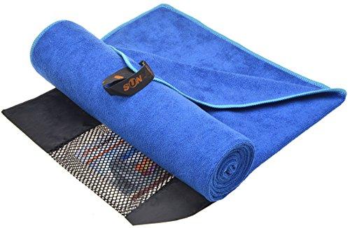 (SUNLAND Travel Sports Yoga Gym Bath Towel Fast Drying Ultra Absorbent Microfiber Towels (Blue Orchid 24inchx48inch))