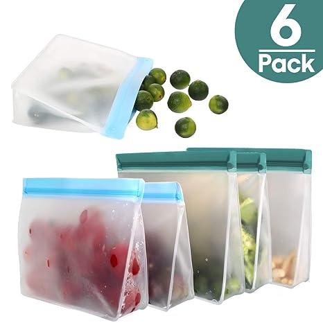 Amazon.com: Bolsas de almacenamiento reutilizables, bolsas ...